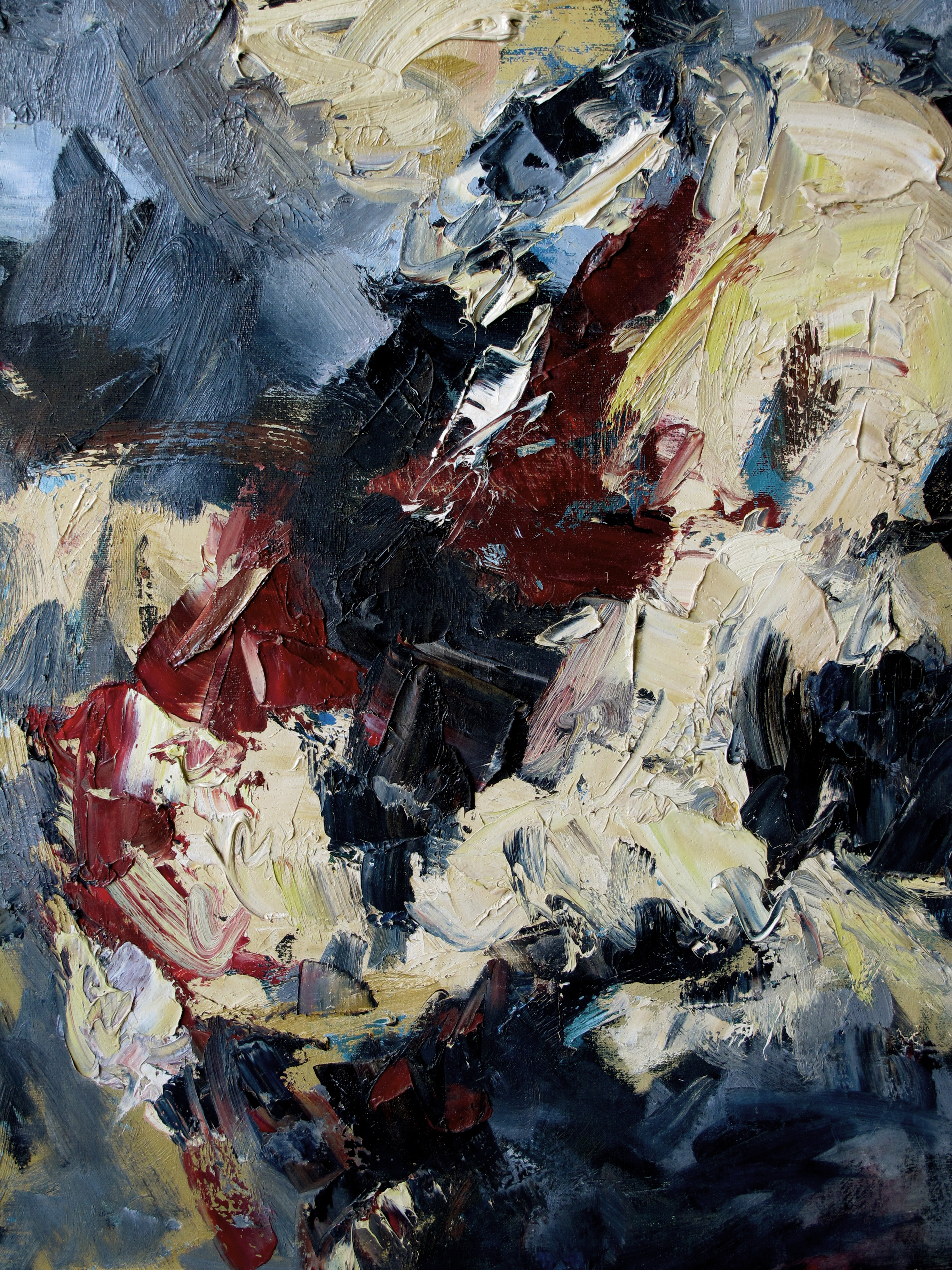 an expressive american mid-century abstract expressionist ...