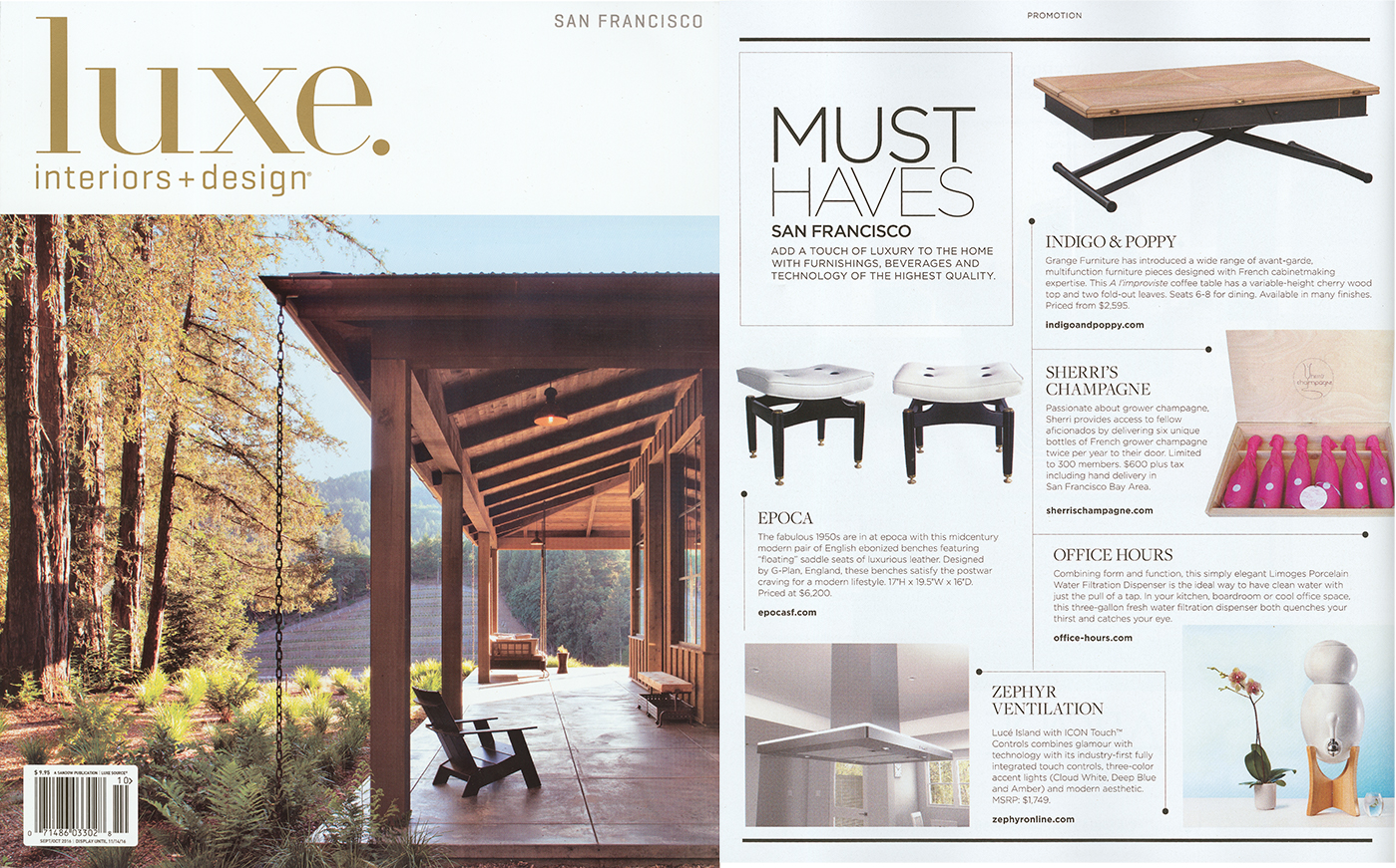 Luxe Interior Design September October 2016