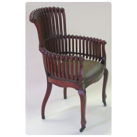 "iconic american aestheic movement oak ""lollipop"" arm chair by George Hunziger (1835-1898)"