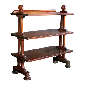 a handsome and good quality english george IV late regency mahogany etagere