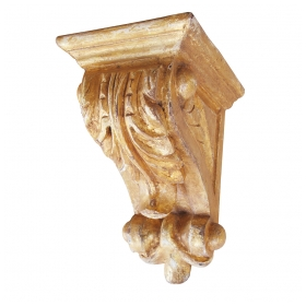 a well-carved american classical-revival giltwood corbel/bracket