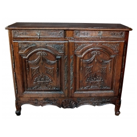 french provincial oak 2-door buffet
