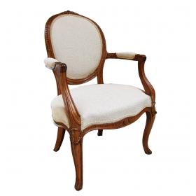 a gracefully proportioned english george iii carved beechwood armChairs in the french taste