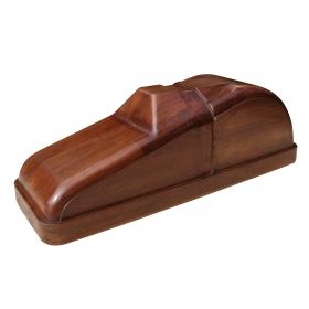 a charming american art deco solid mahogany car mold