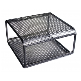 a unique french 1960's industrial steel mesh table or bench