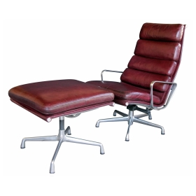 Eames for Herman Miller Executive Soft-Pad Tilt/swivel Lounge Chair and Ottoman