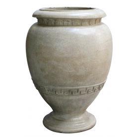 a handsome american neoclassical style pottery urn; by n. clark & sons, alameda, california