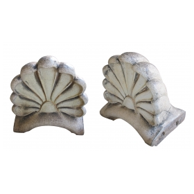 an impressive pair of american neoclassical style pottery architectural anthemions