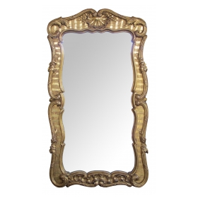 a well-carved and good quality english george ii baroque style giltwood mirror