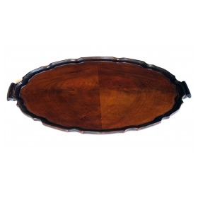 a richly-patinated english george ii style tray
