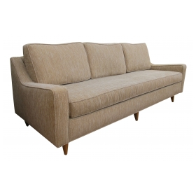 a stylish and good quality american mid-century heywood wakefield triple-seat sofa