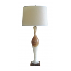 sleek italian mid-century alabaster baluster-form lamp by paulux e.p.p. & co. new York, paris and london