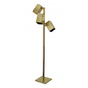 a sleek american 'Koch & Lowy'  3-light brass floor lamp
