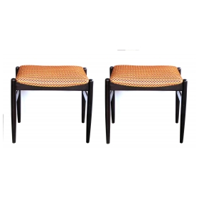 a classic pair of danish modern 1960's benches