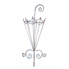 a charming french 1920's metal openwork umbrella stand