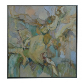 Oil on Canvas: American School Mid-Century Abstract Expressionist Painting