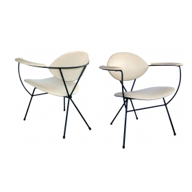 Sculptural Pair of Atomic Age 1950's Lounge Chairs by Joseph Cicchelli for Reilly-Wolff