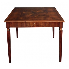 Italian Neoclassical Style Square 2-drawer Game Table