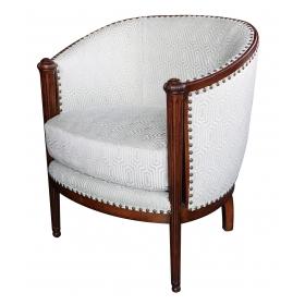 French Art Deco Barrel-back Chair, Circa 1930 at epoca in San Francisco