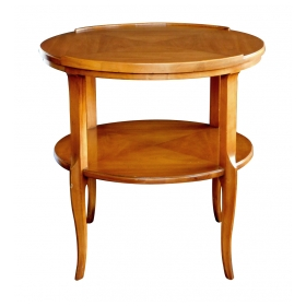 Stylish 1960's Circular Cherrywood Side/End Table by Widdicomb