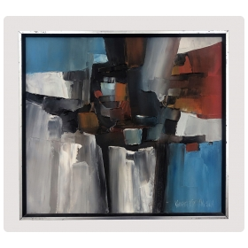 Oil on Canvas: Abstract Expressionist Painting by California Listed Artist Kenneth Ray Wilson