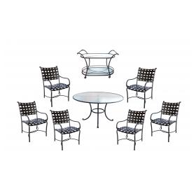 "8-Piece Grouping of Brown Jordan ""Roma"" Patio Furniture"