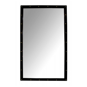 a large french louis-philippe rectangular ebonized mirror with applied bronze stars