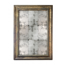 Large Italian Baroque Silver-gilt Rectangular Mirror