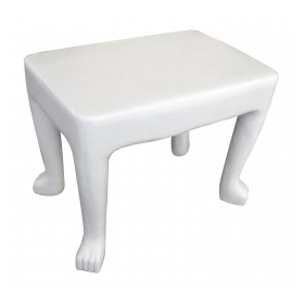 an original and iconic american 1970's john dickinson african-series plaster occasional table (model 103); ex-collection Gary Hutton, San Francisco