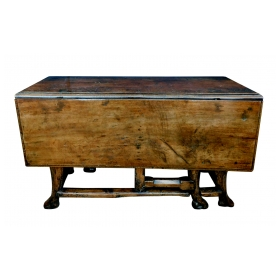 Provincial Portuguese Hardwood Swing-Leg Table