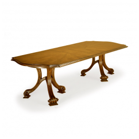 "Therien Studio Solid Walnut ""Volute' Banquet Dining Table"