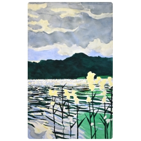At Grasmere - #3 1996, Lake District Series, England  (watercolor on paper)  by william stanisich, san francisco; signed and framed