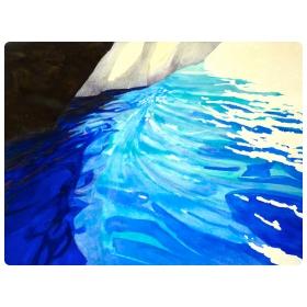 Milos 2009 no. 17 Watercolor On Paper; William Stanisich, San Francisco Presented by epoca.