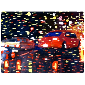 Night Vision 2010 no. 7, Watercolor On Paper By William Stanisich, San Francisco Presented by epoca.