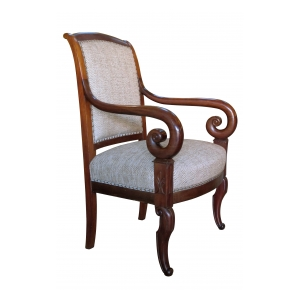 a handsome french restoration mahogany armchair