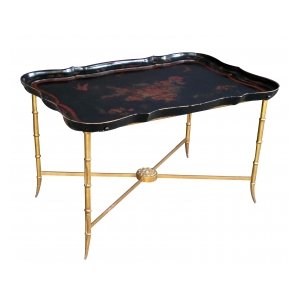 a good quality and elegant french 1940's tray table by Maison Bagues, Paris