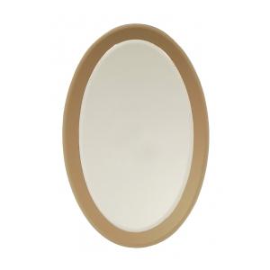 a good quallity italian 1970's fontana arte style oval mirror with smoky glass border