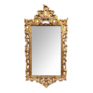 French Rococo Style Carved Giltwood Mirror, Late 19th Century at epoca san francisco