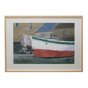 watercolor on paper: bair thorai, ireland by Michael Dunlavey, signed and framed