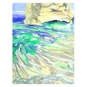 Milos 2006 no. 12 - Watercolor By William Stanisich, San Francisco presented by epoca.