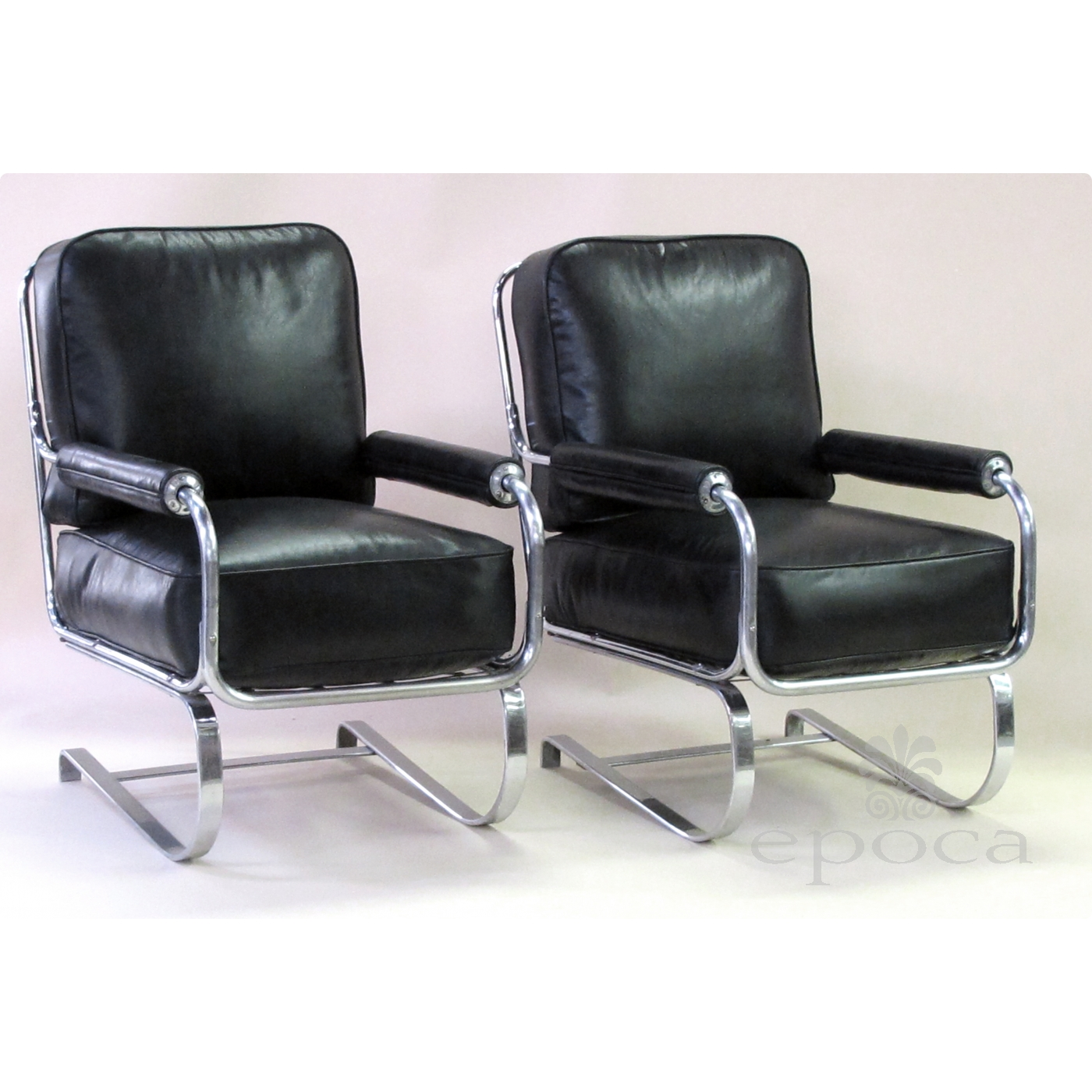 a stylish and rare pair of american 1930 s machine age tubular