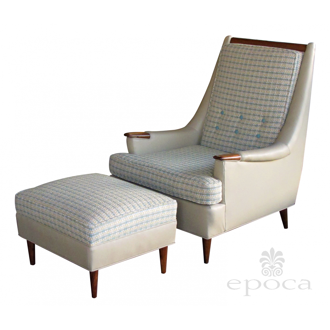 A stylish and comfortable american 1960 39 s leather and for Matching lounge furniture