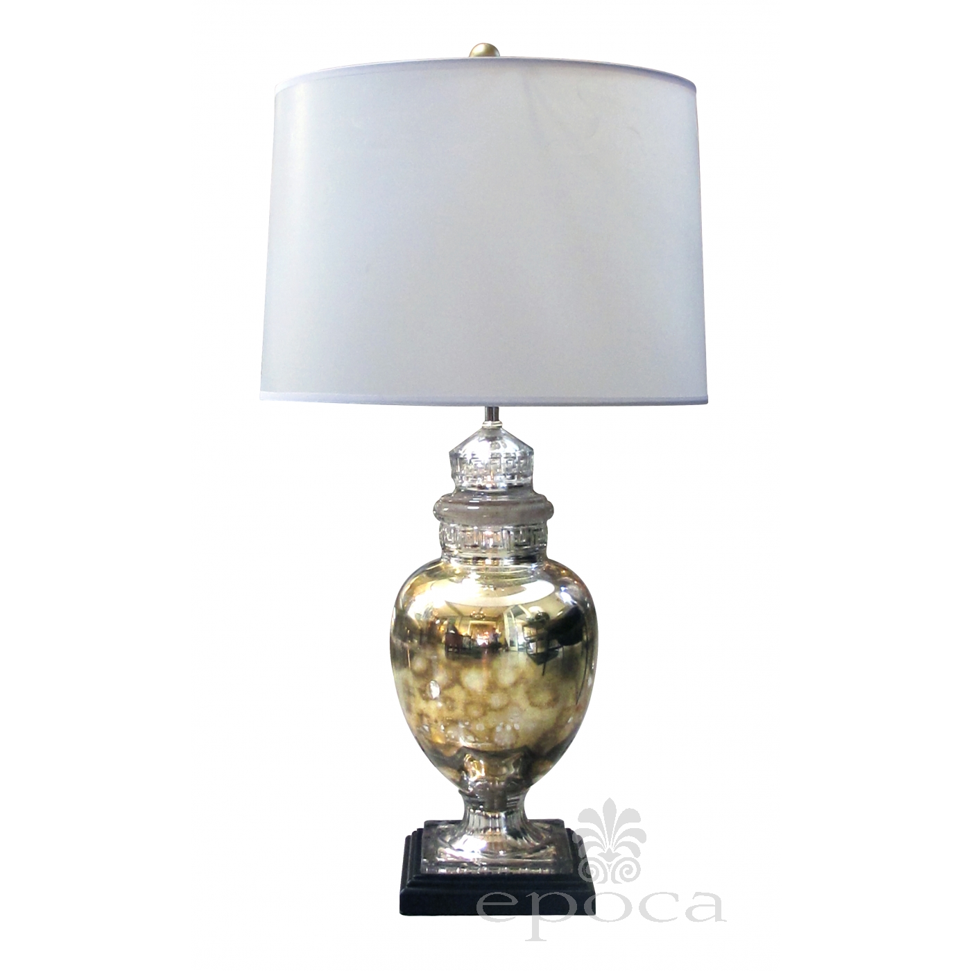 Shimmering American 1940 S Mercury Mirror Apothecary Jar Now Mounted As A Lamp