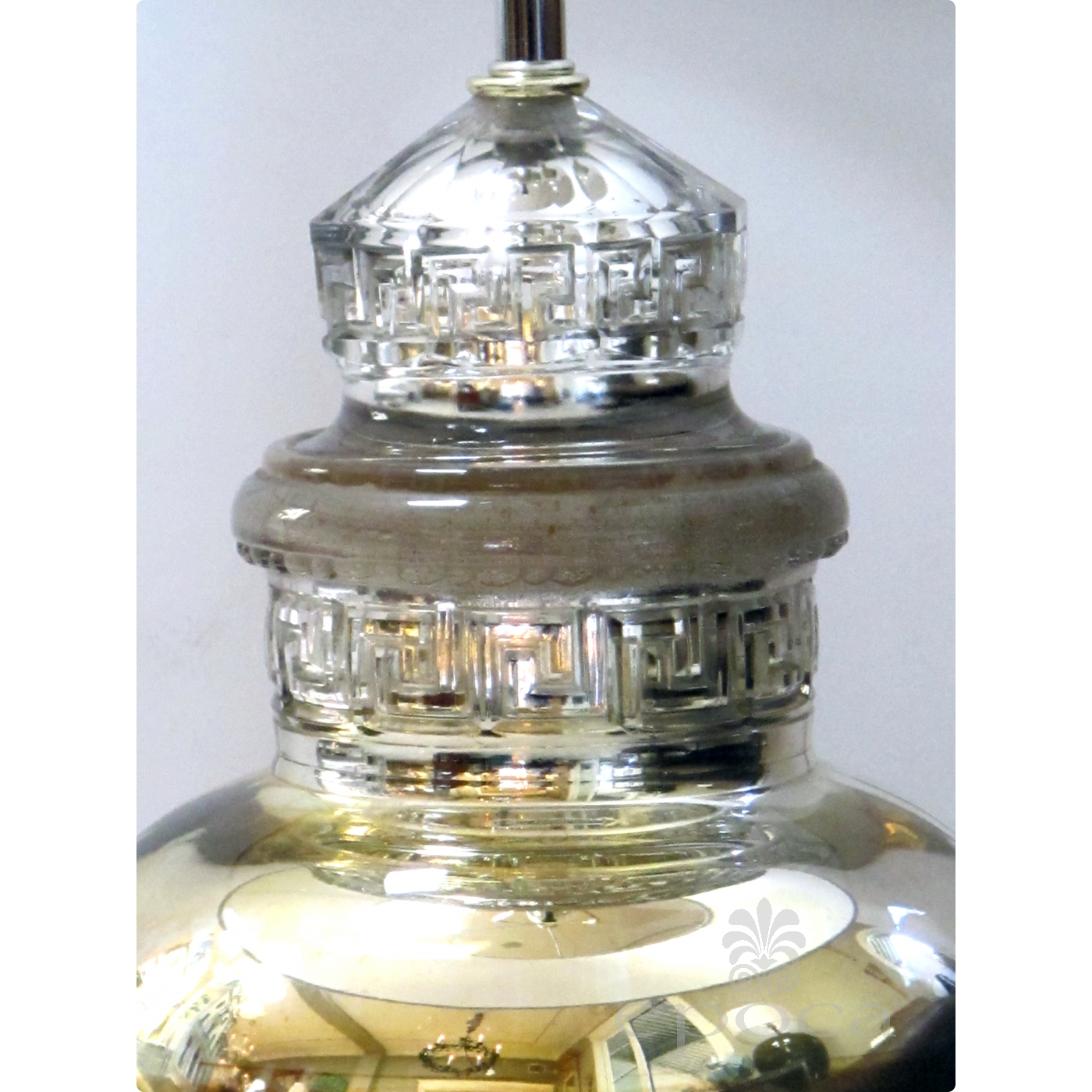 Shimmering American 1940 S Mercury Mirror Apothecary Jar Now Mounted As A