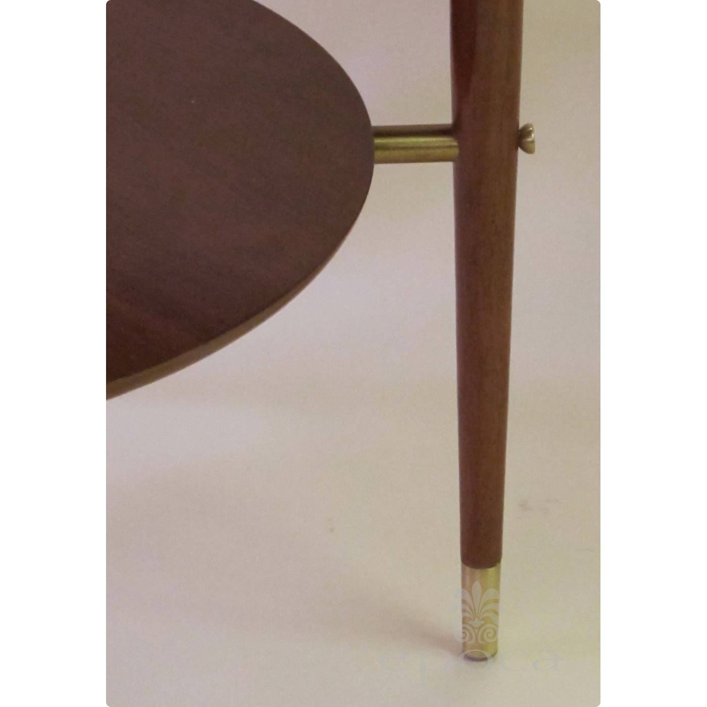 ... Stylish And Sleek Italian Mid Century Circular Side Table With Glass  Top And Brass Fittings