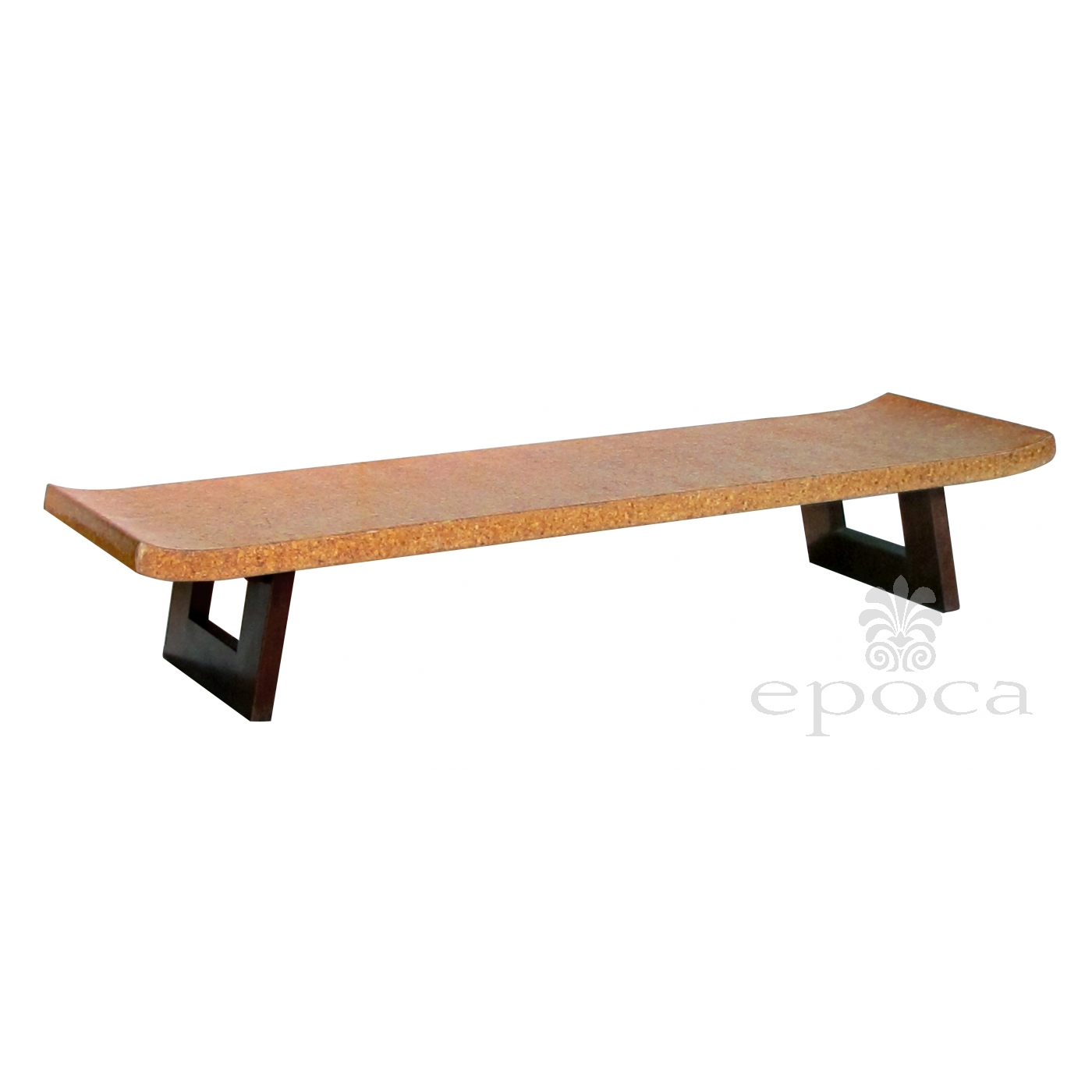 Asian Inspired Paul Frankl For Johnson Furniture Cork Top Bench Or Low  Table With Open