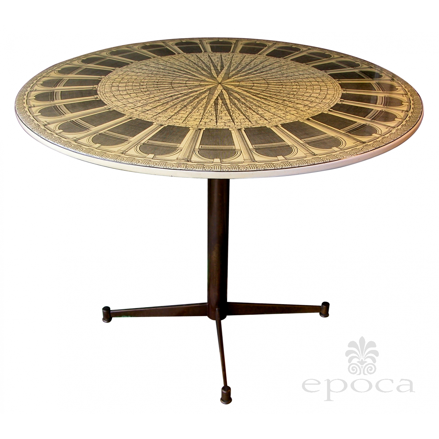 a fine italian mid century circular center table by piero