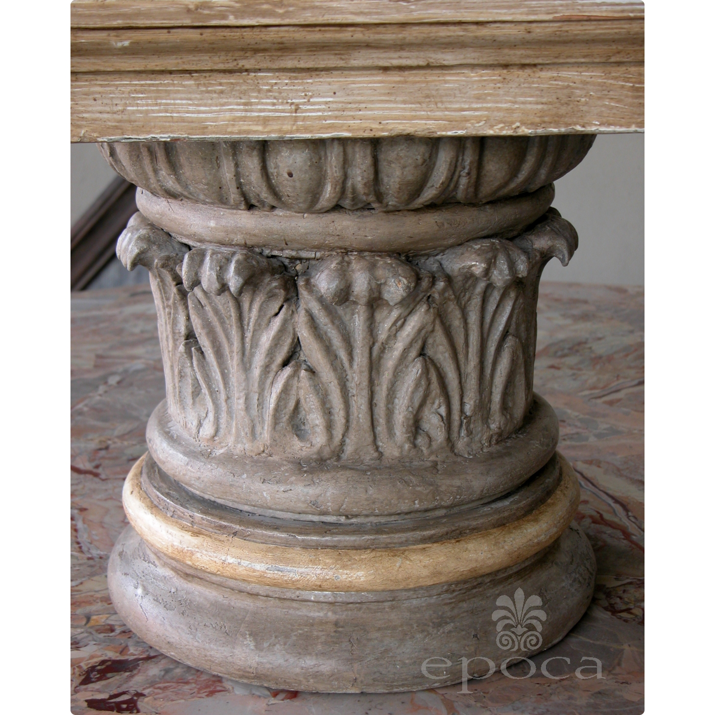 A Handsome American Neoclassical Style Gray Painted And