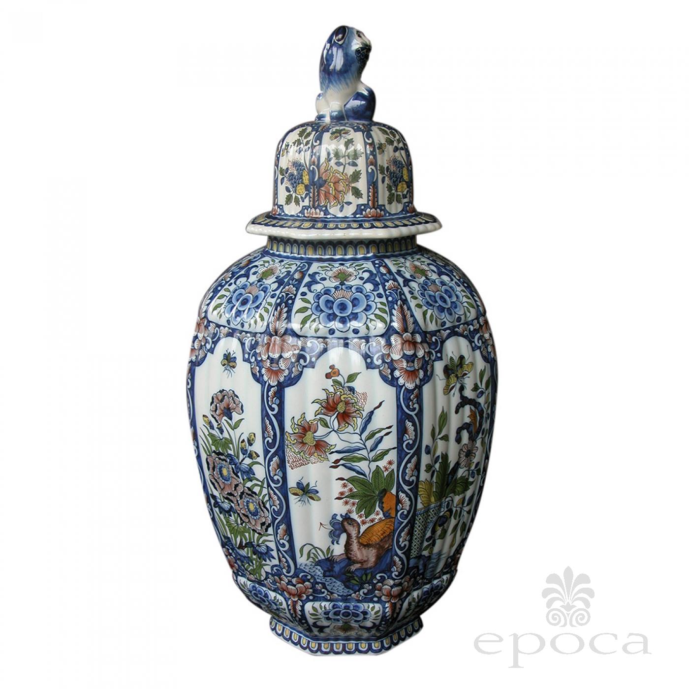 a massive belgian polychromed lobed octagonal ginger jar  : 27110 from www.epocasf.com size 1400 x 1400 jpeg 872kB
