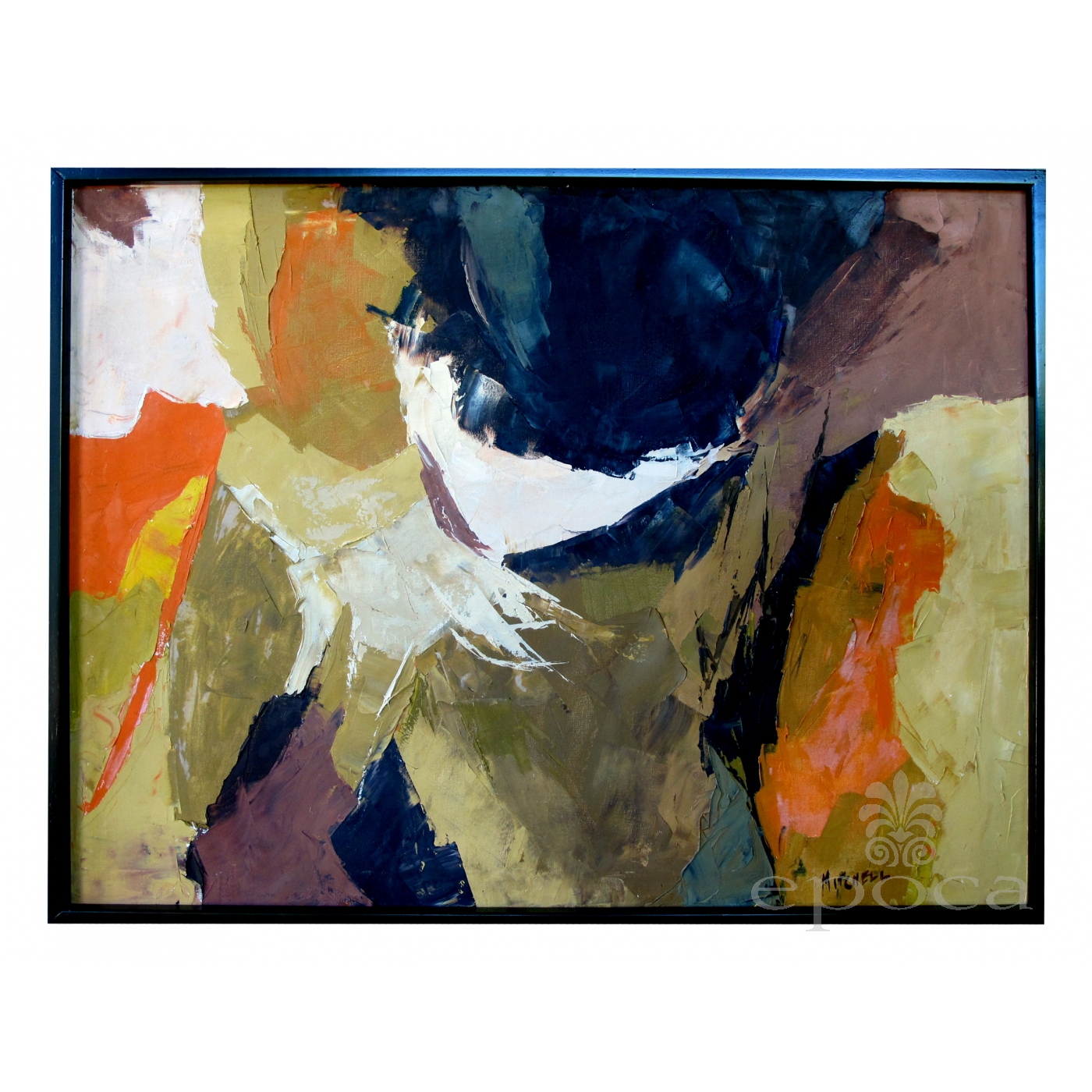 An eloquent american 1960s abstract expressionist painting signed mitchell kit mitchell listed as